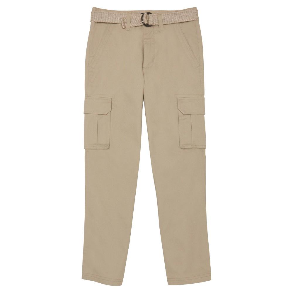Boys French Toast Belted Cargo Pants - Khaki (Green) 10