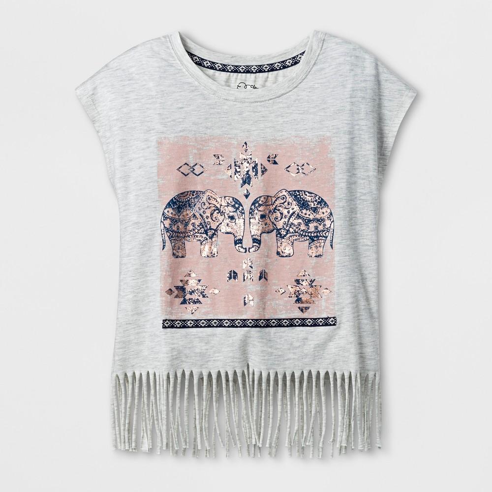 Girls Fringe T-Shirt - Art Class Heather Gray M