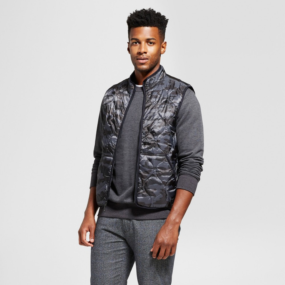 Men's Standard Fit Quilted Vest - Goodfellow & Co Black M