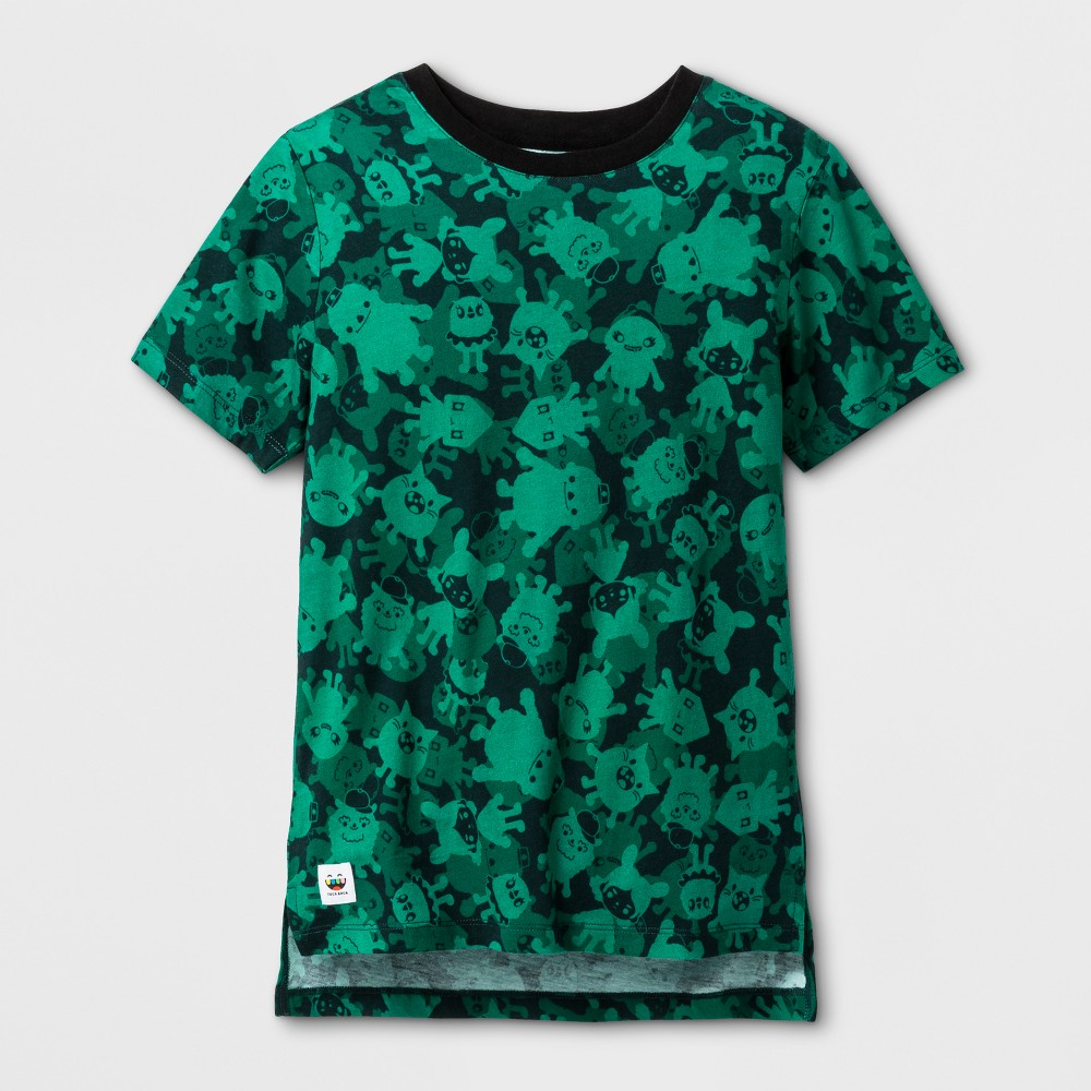 Boys Toca Boca Camo T-Shirt Jade Tree L, Green