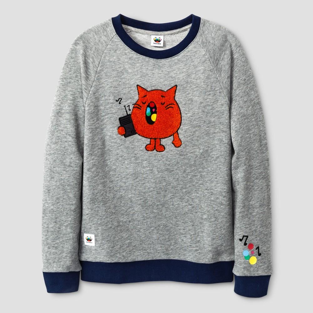 Boys Toca Boca Woa Miao Sweatshirt Heather Gray XS