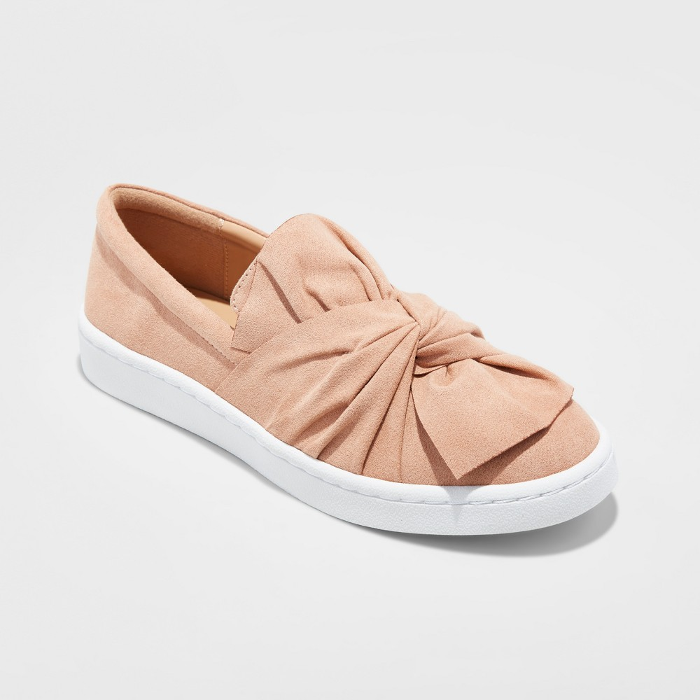 Womens Allory Slip On Knot Sneakers - A New Day Blush 7.5, Pink
