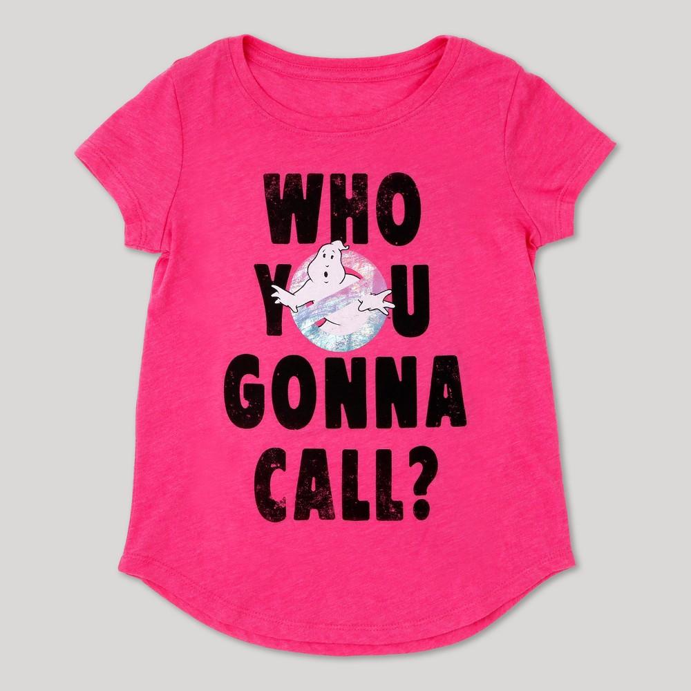 Girls Ghostbusters T-shirt - Pink XS(4-5), Size: XS (4-5)