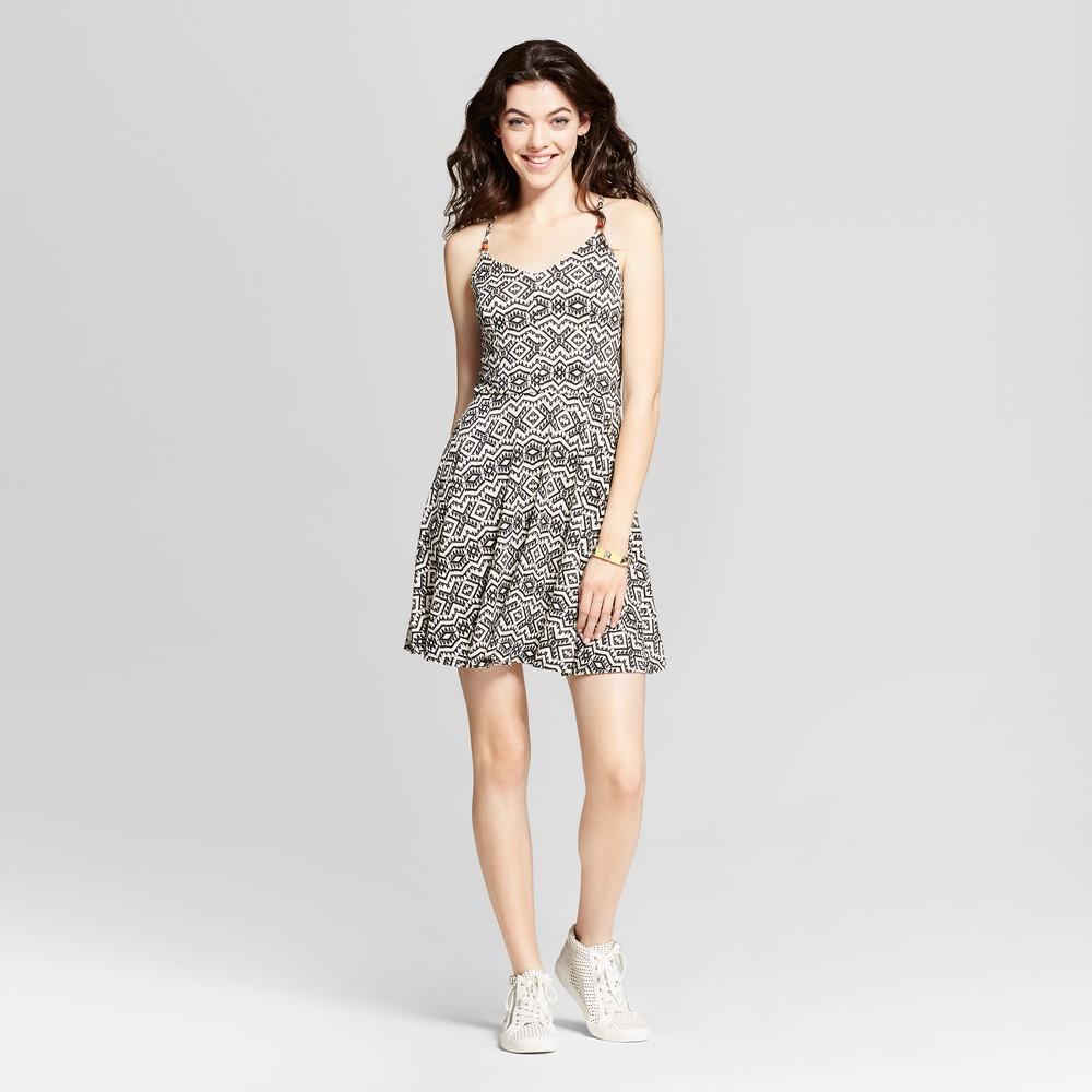 Womens Strappy Fit & Flare Dress - Xhilaration (Juniors) White/Black Xxl, Black/White