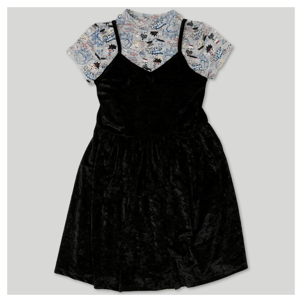 Girls Descendants 2 Short Sleeve Dress - Black M