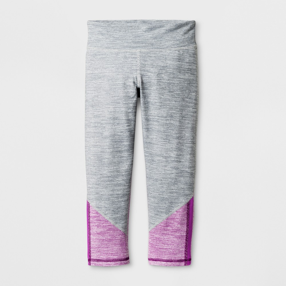 Girls Elevated Performance Capri Leggings - C9 Champion Concrete XL