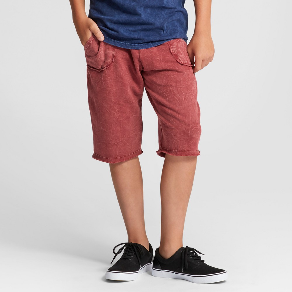 Boys Dyed Knit Pull-On Shorts - Art Class Red XS
