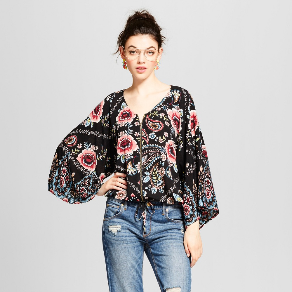 Womens Kimono Bomber - Xhilaration (Juniors) Black XL