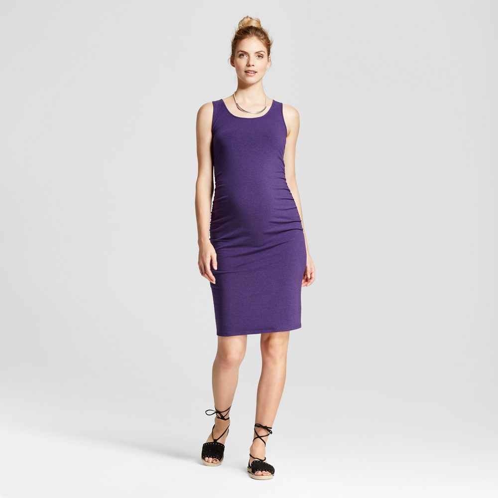 Maternity Shirred Tank Dress - Isabel Maternity by Ingrid & Isabel Dark Purple Heather S, Womens