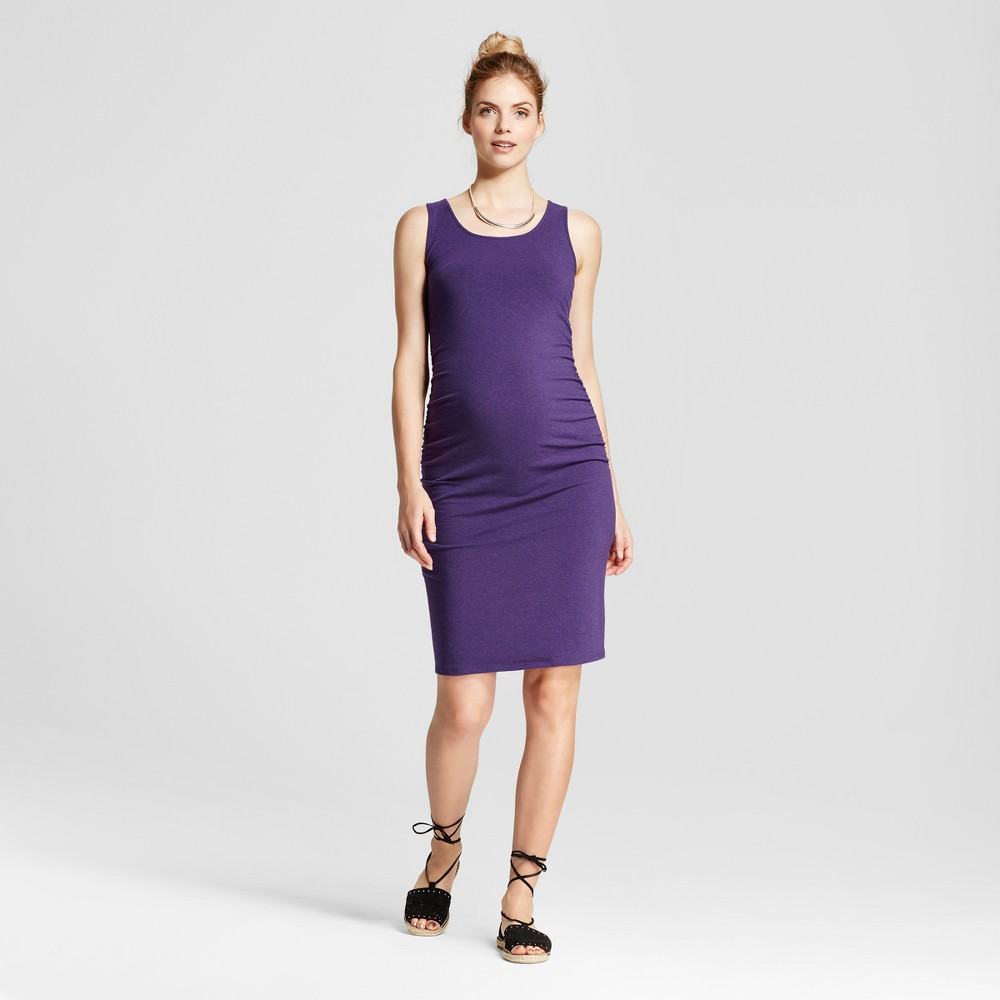 Maternity Shirred Tank Dress - Isabel Maternity by Ingrid & Isabel Dark Purple Heather M, Womens