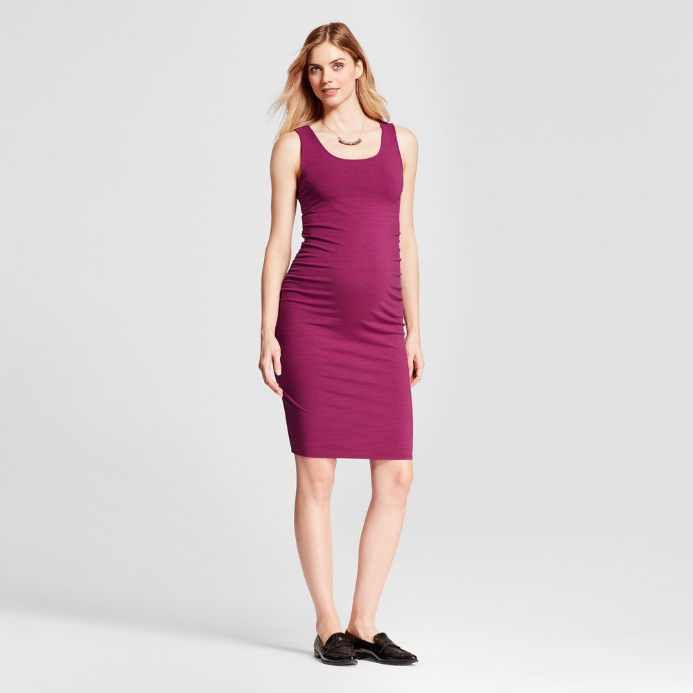 Maternity Shirred Tank Dress - Isabel Maternity by Ingrid & Isabel Berry (Pink) XS, Womens