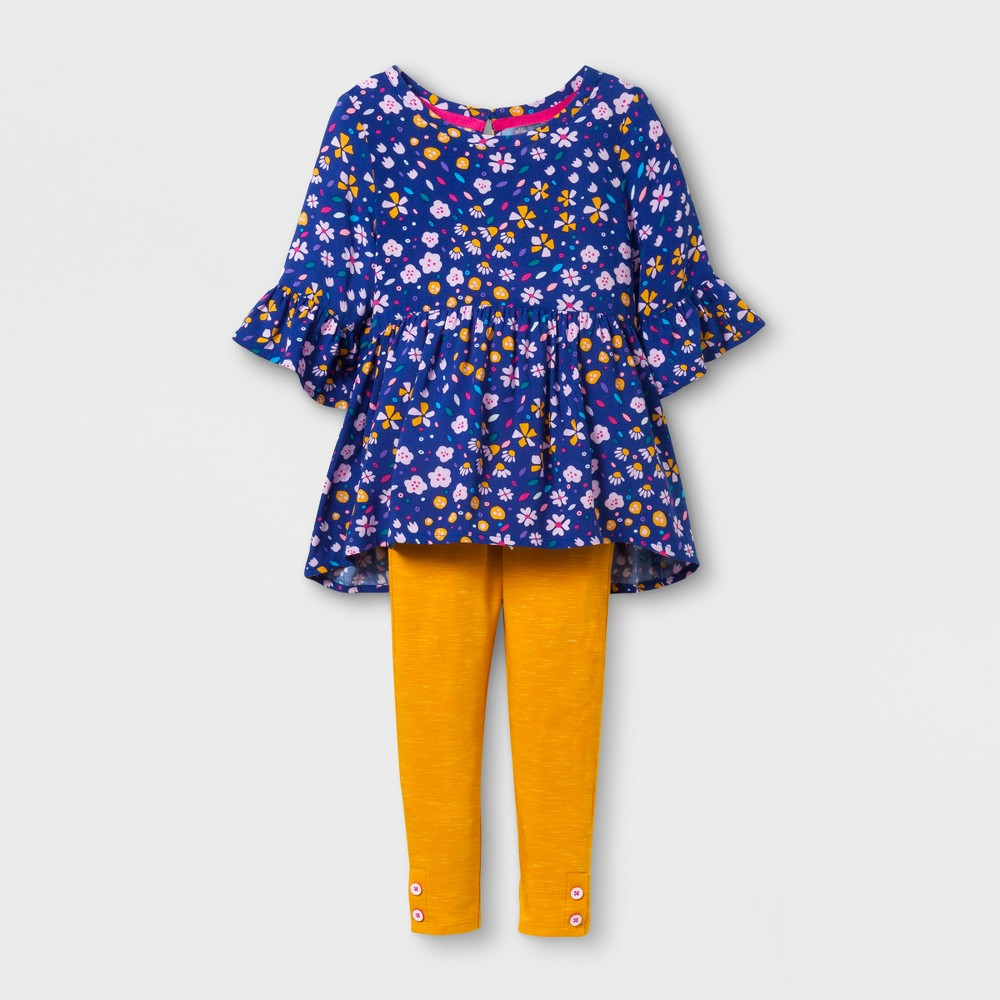 Toddler Girls Top and bottom Set - Cat & Jack Blue Dream 5T