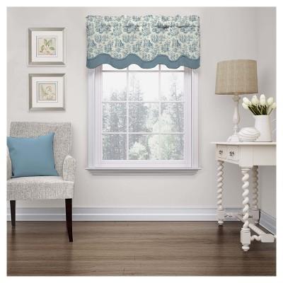 Charmed Life Window Valance Blue (18 x52 )- Waverly