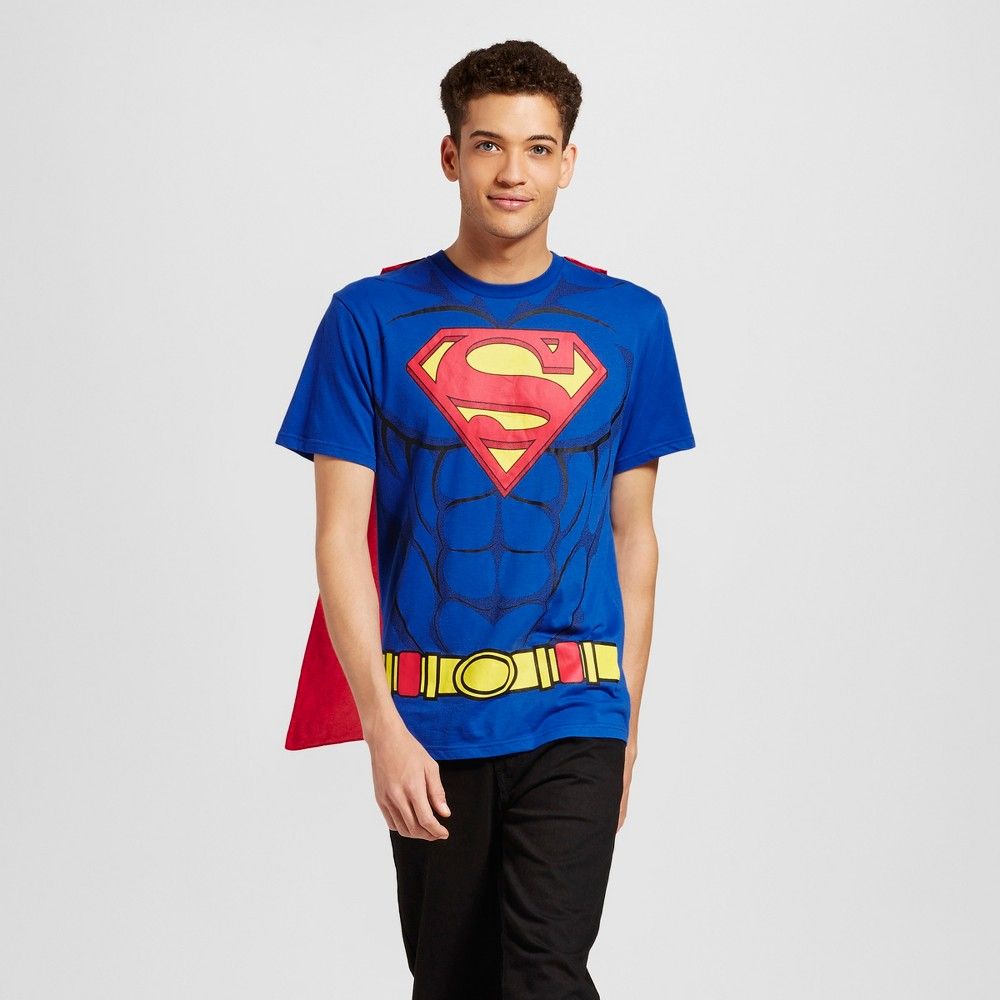Mens DC Comics Superman with Cape Short Sleeve Graphic T-Shirt - Blue M