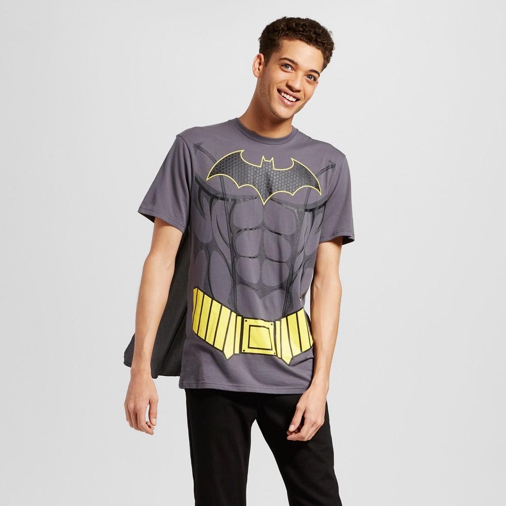 Mens DC Comics Batman with Cape Short Sleeve Graphic T-Shirt - Charcoal M, Gray