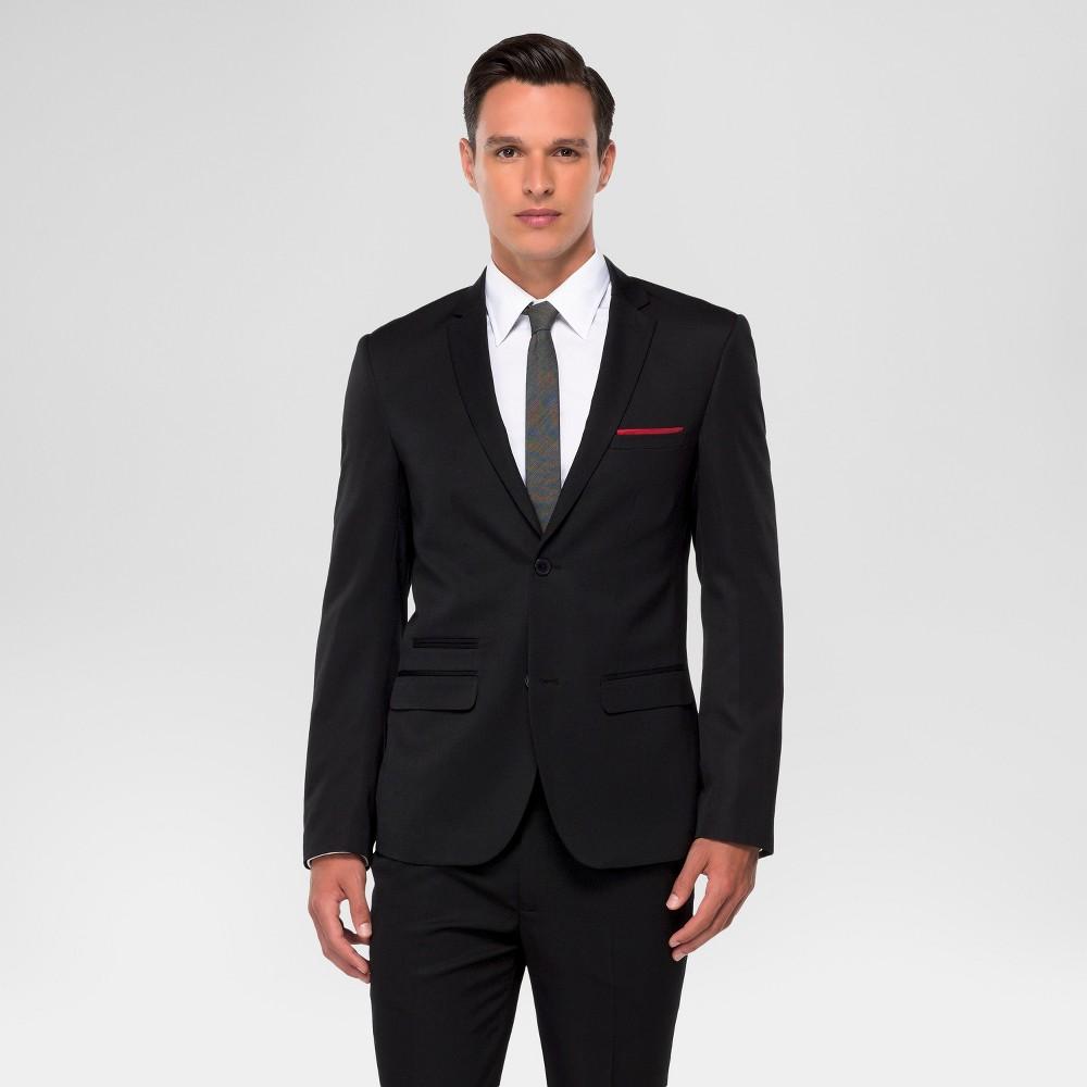 Wd·ny Black - Mens Suit Jacket - Black M