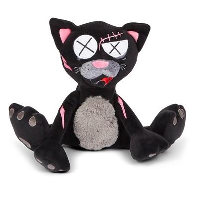 Bark® Klaus the Black Cat Tough Dog Toy - Black