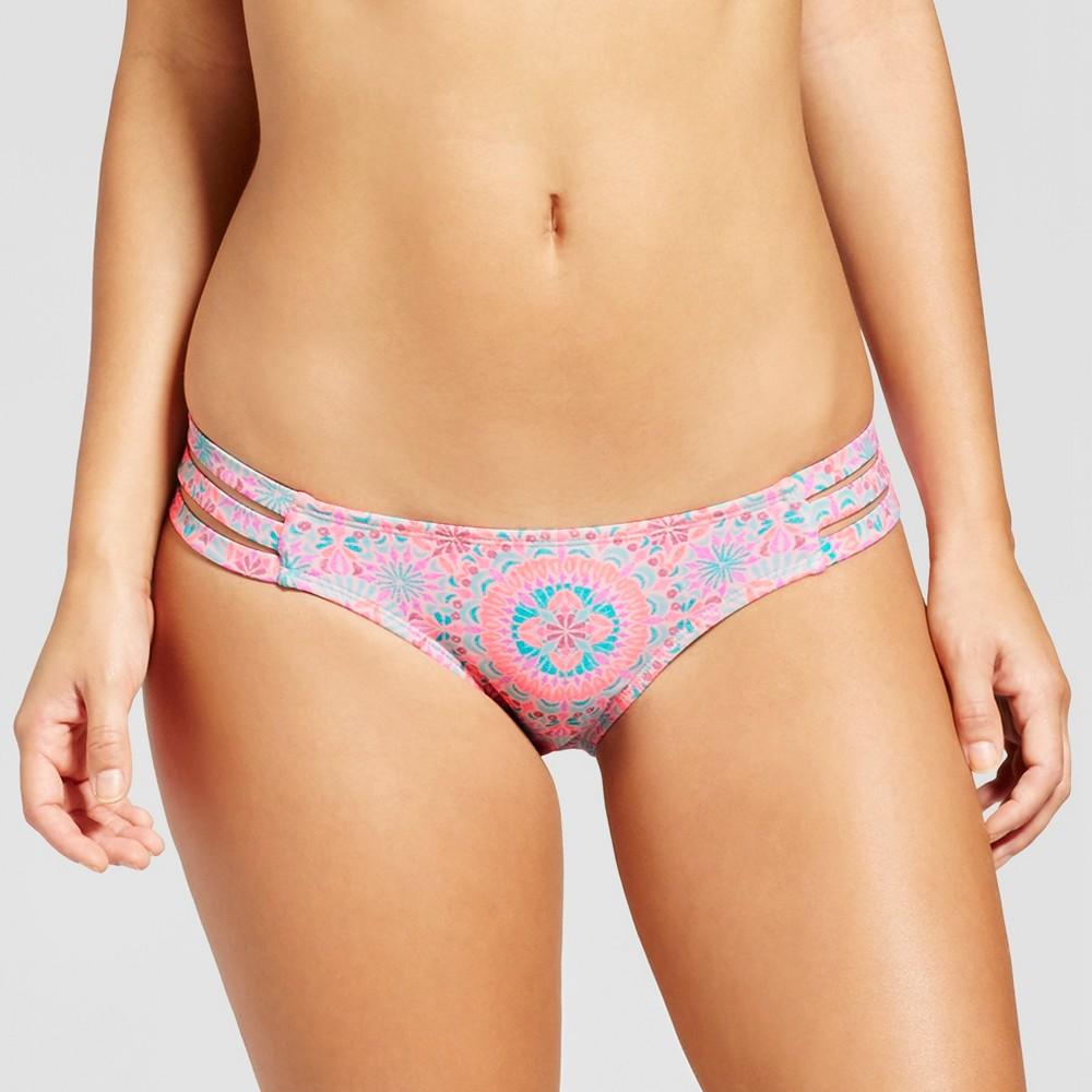 Womens Strappy Bikini Bottom - Xhilaration Pink Print S