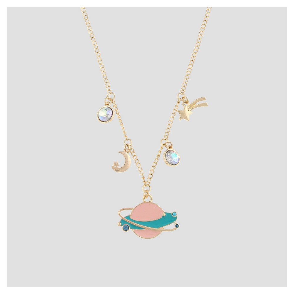 Girls Cluster Space Theme Charms Necklace - Cat & Jack Gold