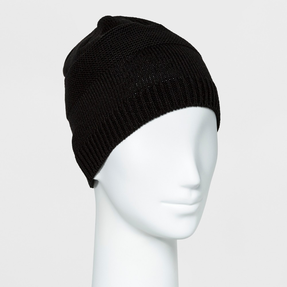 Womens Isotoner SmartDRI Knit Hat - Black