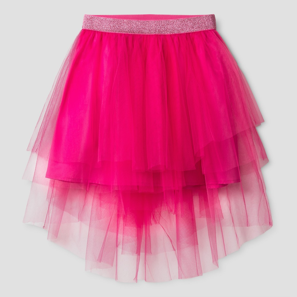Girls Midi Skirt - Cat & Jack Absolutely Pink XL