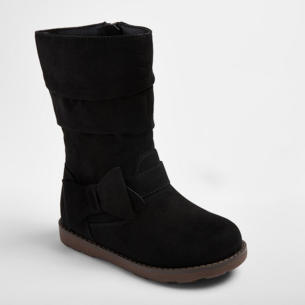 Toddler Girls Jeanna Scrunch Fashion Boots 7 - Cat & Jack - Black