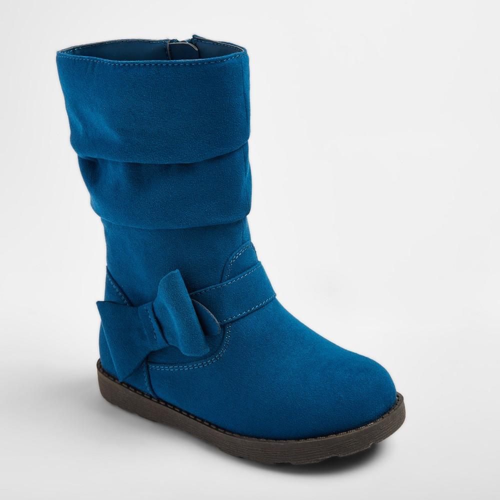 Toddler Girls Jeanna Scrunch Fashion Boots Teal (Blue) 8 - Cat & Jack