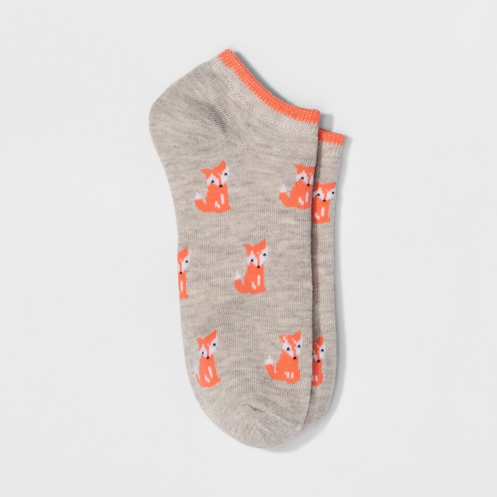 Womens Foxes Casual Socks - Xhilaration One Size, Brown