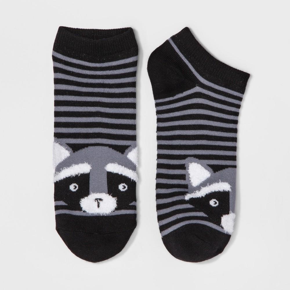 Womens Raccoon Casual Socks - Xhilaration One Size, Ebony Heather