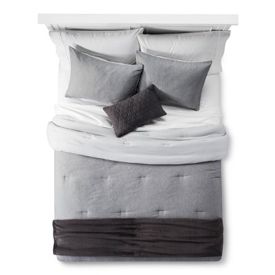 Heather Gray Comforter Set 5pc (King)- Room Essentials™