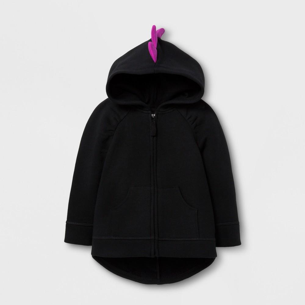 Toddler Girls Sweatshirt Halloween Layering Cat & Jack - Black 18M, Size: 18 Months