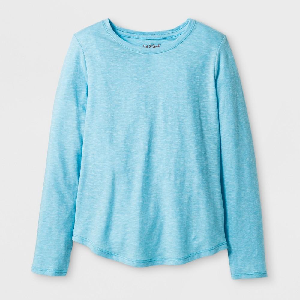 Girls Long Sleeve Favorite T-Shirt - Cat & Jack Blue M