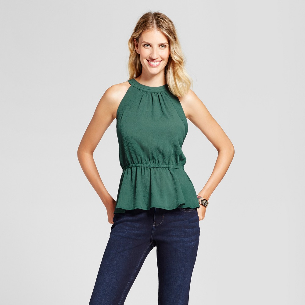 Womens Solid Halter Neck Woven Tank - Isani for Target Olive XS, Green