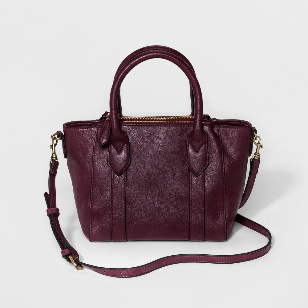 Womens Mini Satchel Handbag - A New Day Boysenberry, Size: Small
