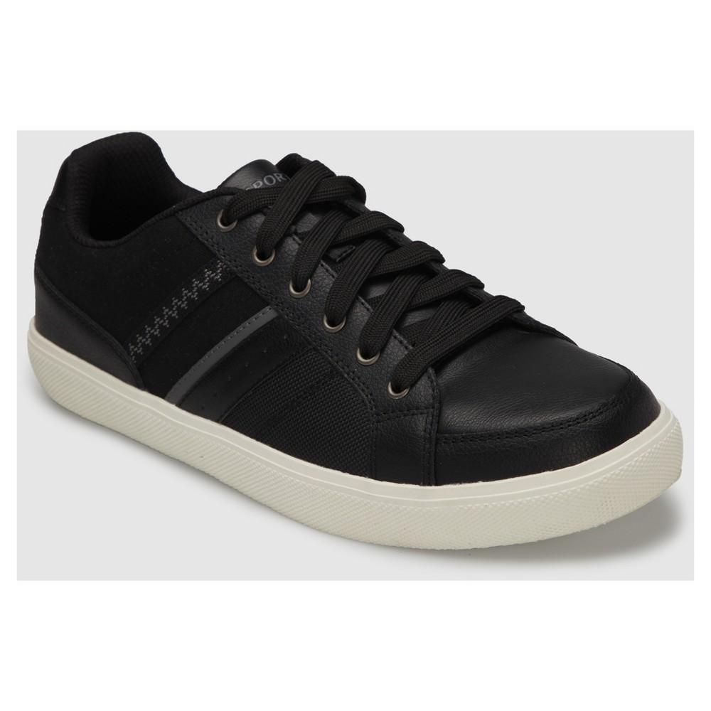 Mens S Sport by Sketchers Alik Athletic Shoes - Black 9, Black White