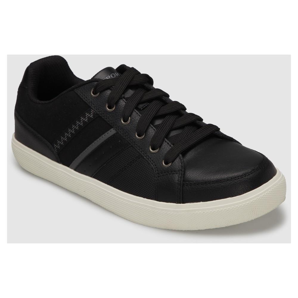 Mens S Sport by Sketchers Alik Athletic Shoes - Black 9.5, Black White