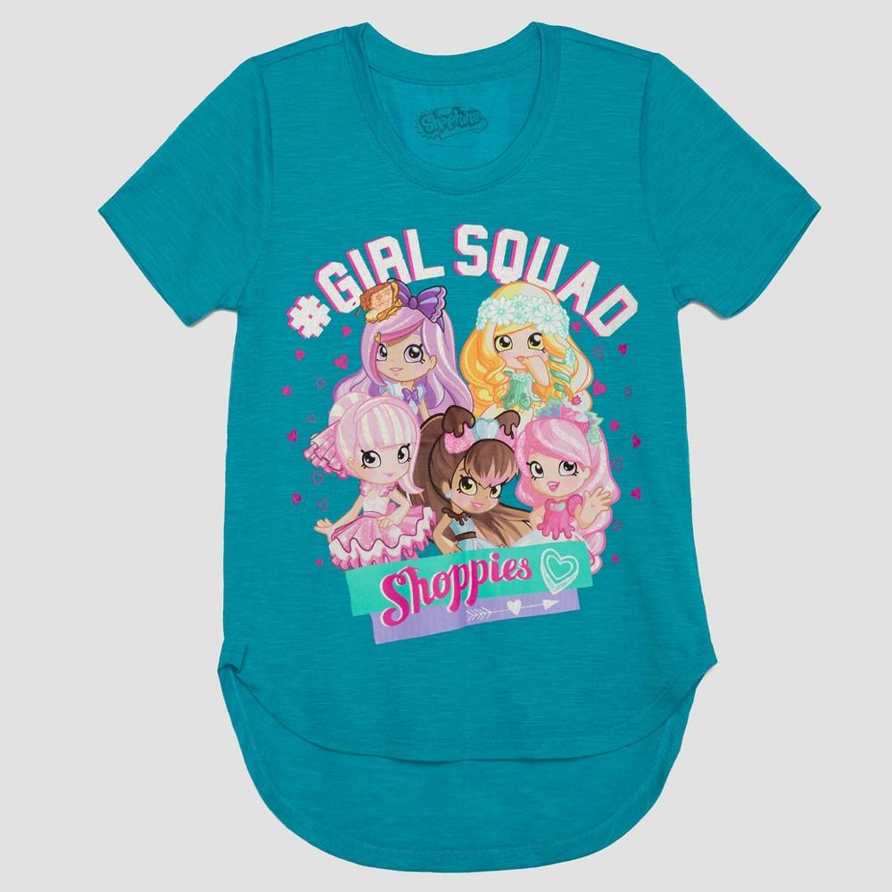 Girls Shoppies Short Sleeve T-Shirt - Blue L
