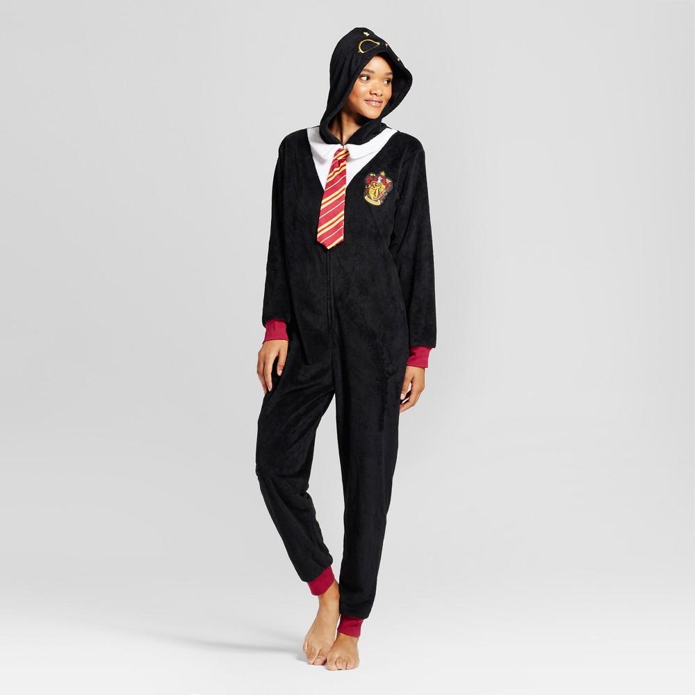 Womens Warner Bros. Harry Potter Pajama Union Suit - Black L/XL, Size: L-XL