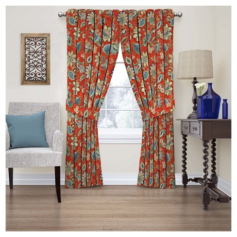 Brighton Blossom Floral Curtain Panel Gem - Waverly - image 1 of 1