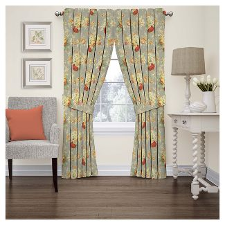Sanctuary Rose Curtain Panel Clay (52u0022x84u0022) - Waverly - Heritage