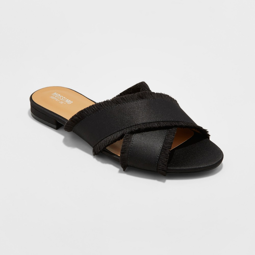 Womens Lola Cross Band Slide Sandals - Mossimo Supply Co Black 8.5