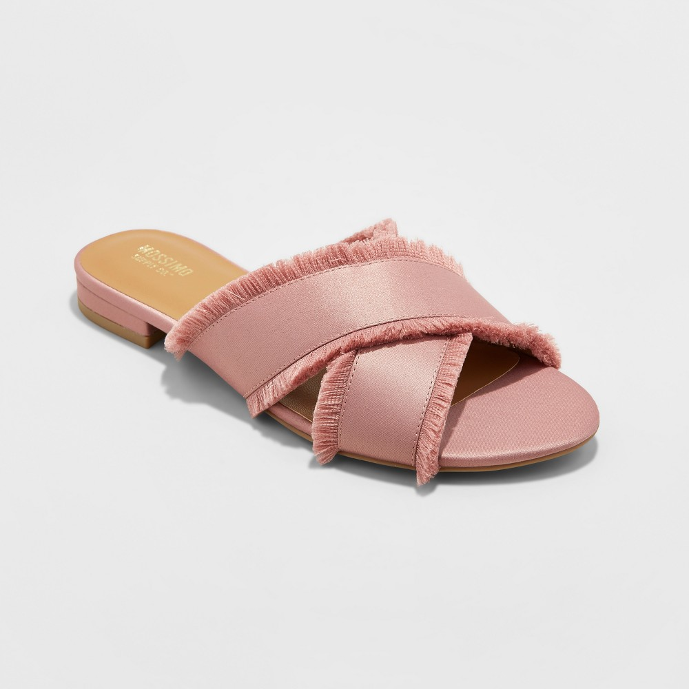 Womens Lola Cross Band Slide Sandals - Mossimo Supply Co Pale Blush 8.5