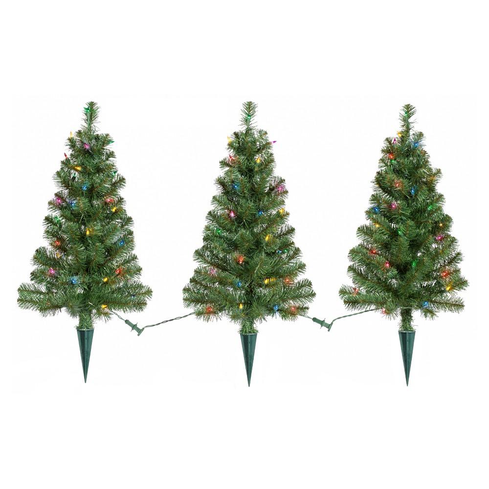 3pk 2ft Prelit Artificial Christmas Pathway Trees Alberta...