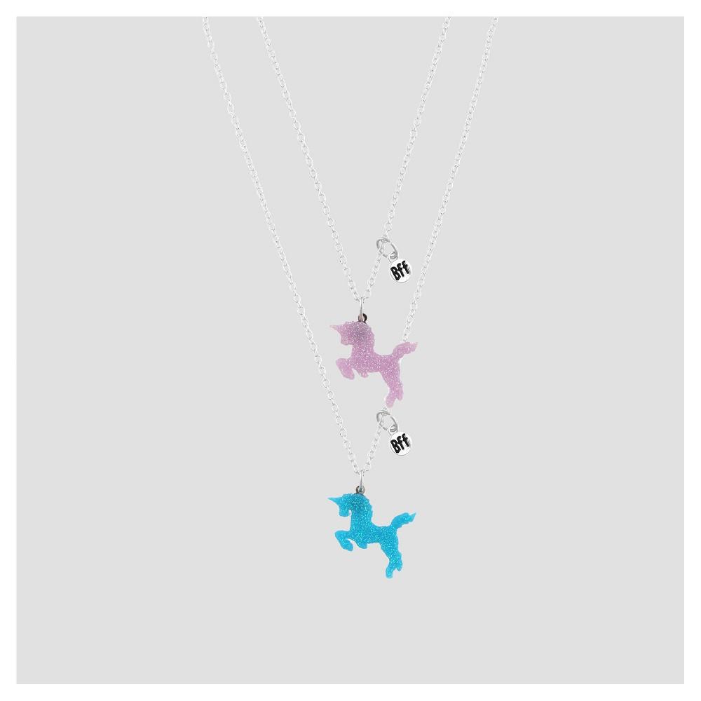Girls Best Friends Necklace Set with Glitter Unicorn Pendants - Cat & Jack Blue