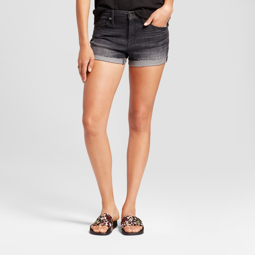 Womens High Rise Shorts - Mossimo Black Wash 00