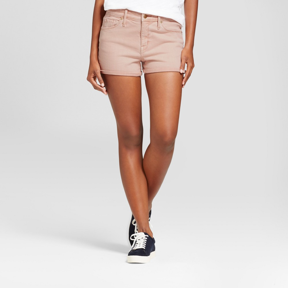 Womens High Rise Shorts - Mossimo Pink Wash 10