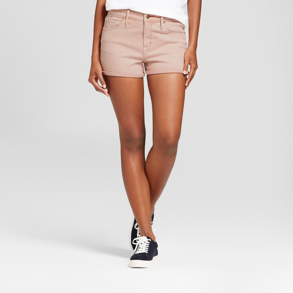 Womens High Rise Shorts - Mossimo Pink Wash 4