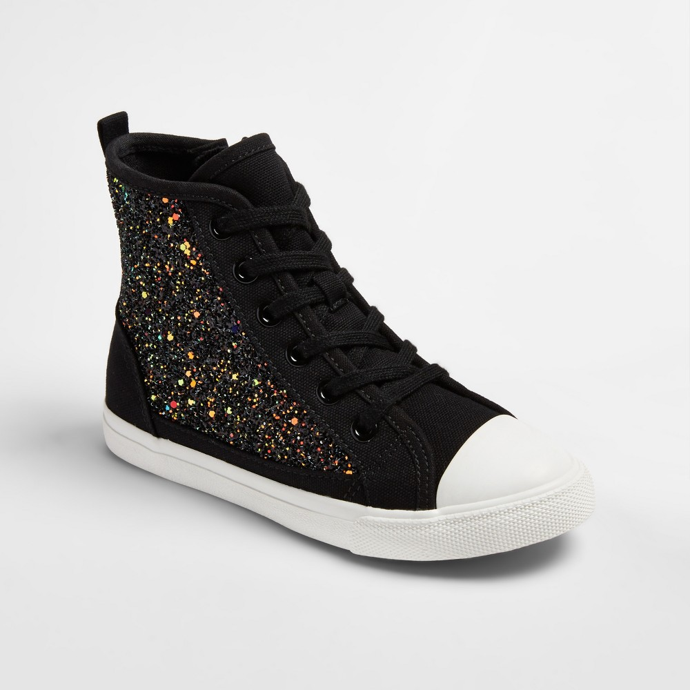 Girls Brynn Hi-Top Sneakers Cat & Jack - Black 13