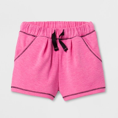 Toddler Girls' Activewear Shorts - Cat & Jack™ Pizzazz Pink 12M
