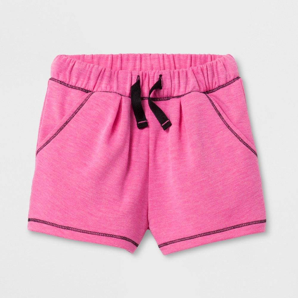 Toddler Girls Activewear Shorts - Cat & Jack Pizzazz Pink 12M, Size: 12 M